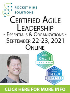certified agile leadership training essentials and organizations