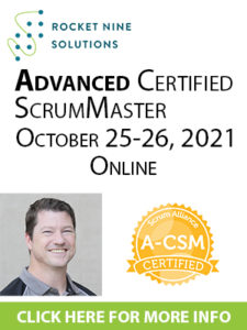 advanced scrum master training