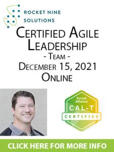 agile leadership training team