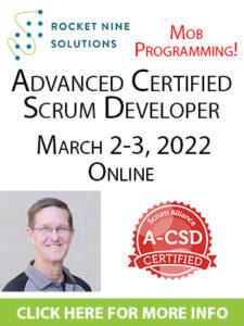 advanced scrum developer training