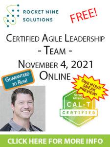 agile leadership teams sneak preview