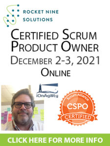scrum product owner training